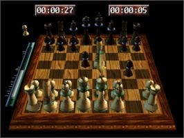 In game image of Virtual Chess 64 on the Nintendo N64.