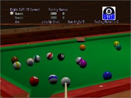 In game image of Virtual Pool 64 on the Nintendo N64.