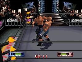 In game image of WCW/NWO Revenge on the Nintendo N64.