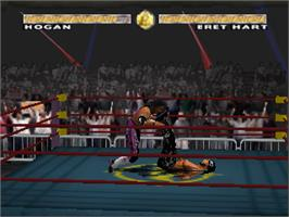 In game image of WCW Nitro on the Nintendo N64.