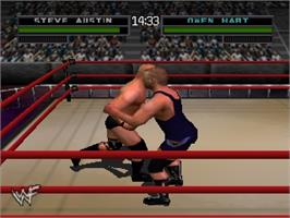 In game image of WWF War Zone on the Nintendo N64.