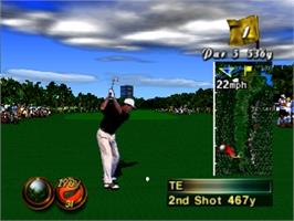 In game image of Waialae Country Club: True Golf Classics on the Nintendo N64.