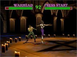 In game image of War Gods on the Nintendo N64.