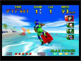 In game image of Wave Race 64: Shindou Edition on the Nintendo N64.