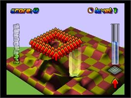 In game image of Wetrix on the Nintendo N64.