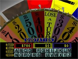 In game image of Wheel Of Fortune on the Nintendo N64.