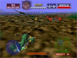 In game image of Wild Choppers on the Nintendo N64.