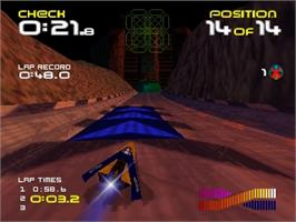 In game image of Wipeout 64 on the Nintendo N64.