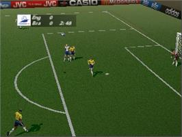 In game image of World Cup 98 on the Nintendo N64.