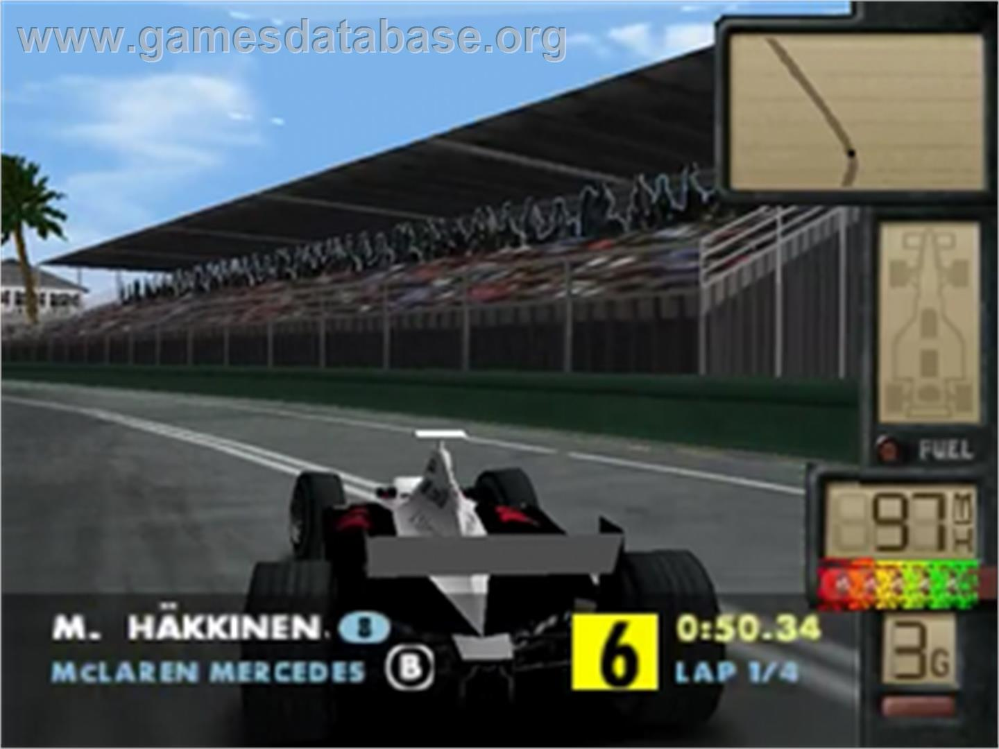 In game image of F-1 World Grand Prix 2 on the Nintendo N64.