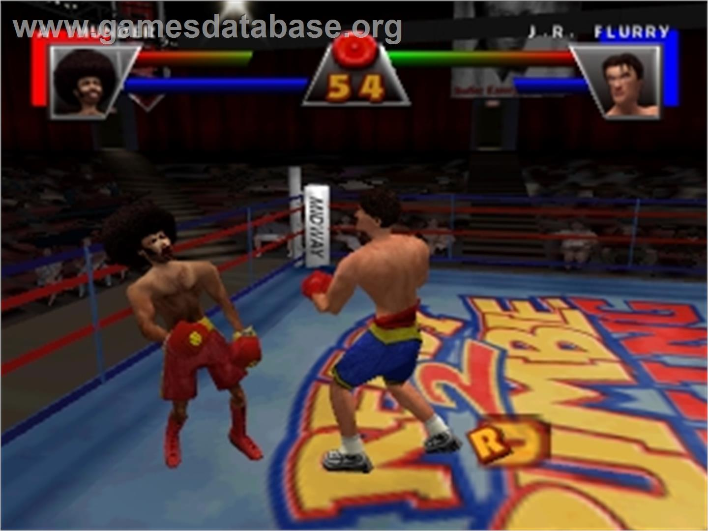 In game image of Ready 2 Rumble Boxing: Round 2 on the Nintendo N64.