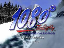 Title screen of 1080° Snowboarding on the Nintendo N64.
