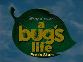 Title screen of A Bug's Life on the Nintendo N64.