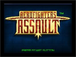 Title screen of Aero Fighters Assault on the Nintendo N64.