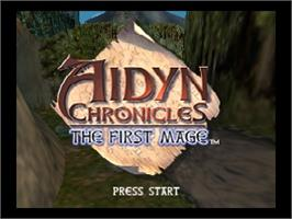 Title screen of Aidyn Chronicles: The First Mage on the Nintendo N64.