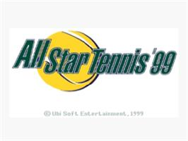 Title screen of All Star Tennis '99 on the Nintendo N64.