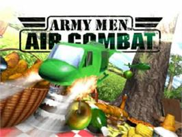 Title screen of Army Men: Air Combat on the Nintendo N64.