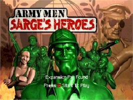 Title screen of Army Men: Sarge's Heroes on the Nintendo N64.