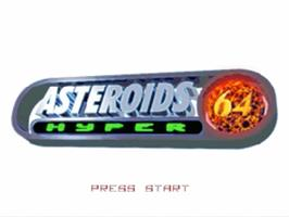 Title screen of Asteroids Hyper 64 on the Nintendo N64.