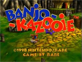 Title screen of Banjo-Kazooie on the Nintendo N64.