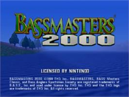 Title screen of Bassmasters 2000 on the Nintendo N64.