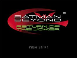 Title screen of Batman Beyond: Return of the Joker on the Nintendo N64.