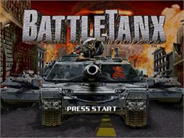 Title screen of BattleTanx on the Nintendo N64.