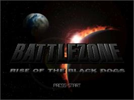 Title screen of Battle Zone: Rise of the Black Dogs on the Nintendo N64.