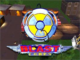 Title screen of Blast Corps on the Nintendo N64.