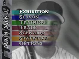 Title screen of Bottom of the Ninth on the Nintendo N64.