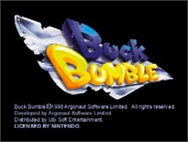 Title screen of Buck Bumble on the Nintendo N64.