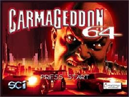 Title screen of Carmageddon 64 on the Nintendo N64.