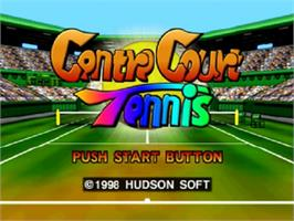 Title screen of Centre Court Tennis on the Nintendo N64.