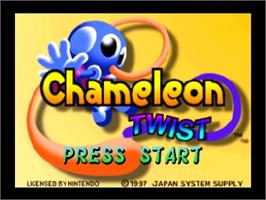Title screen of Chameleon Twist on the Nintendo N64.