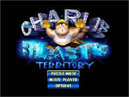 Title screen of Charlie Blast's Territory on the Nintendo N64.