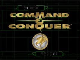 Title screen of Command & Conquer on the Nintendo N64.