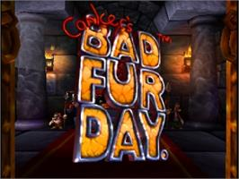Title screen of Conker's Bad Fur Day on the Nintendo N64.