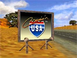 Title screen of Cruis'n USA on the Nintendo N64.