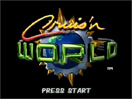 Title screen of Cruis'n World on the Nintendo N64.