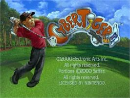 Title screen of Cyber Tiger on the Nintendo N64.