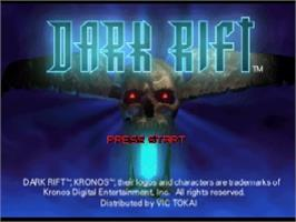 Title screen of Dark Rift on the Nintendo N64.
