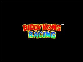 Title screen of Diddy Kong Racing on the Nintendo N64.