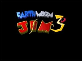 Title screen of Earthworm Jim 3D on the Nintendo N64.