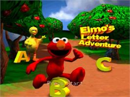 Title screen of Elmo's Letter Adventure on the Nintendo N64.
