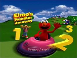 Title screen of Elmo's Number Journey on the Nintendo N64.