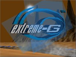 Title screen of Extreme G on the Nintendo N64.
