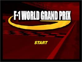 Title screen of F-1 World Grand Prix on the Nintendo N64.