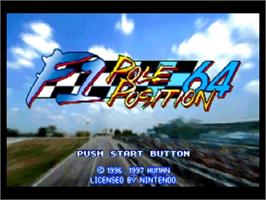 Title screen of F1 Pole Position 64 on the Nintendo N64.