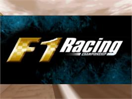 Title screen of F1 Racing Championship on the Nintendo N64.