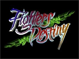 Title screen of Fighters Destiny on the Nintendo N64.